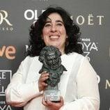 """Arantxa Echevarría con su Goya 2019 a Mejor dirección novel por """"Carmen y Lola"""""""