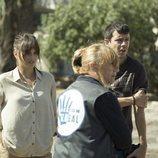 Andrea Duro, Blanca Portillo y Marcel Borrás en la nueva serie de RTVE 'Promesas de arena'