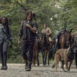 El grupo de Alexandria en la novena temporada de 'The Walking Dead'