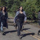 Magna, Tara y Yumiko lideran una caravana en la novena temporada de 'The Walking Dead'