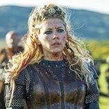 Lagertha cubierta de sangre en la quinta temporada de 'Vikings'
