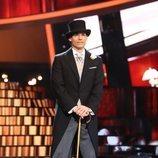 Carlos Baute como Fred Astaire en la Gala 14 de 'Tu cara me suena'