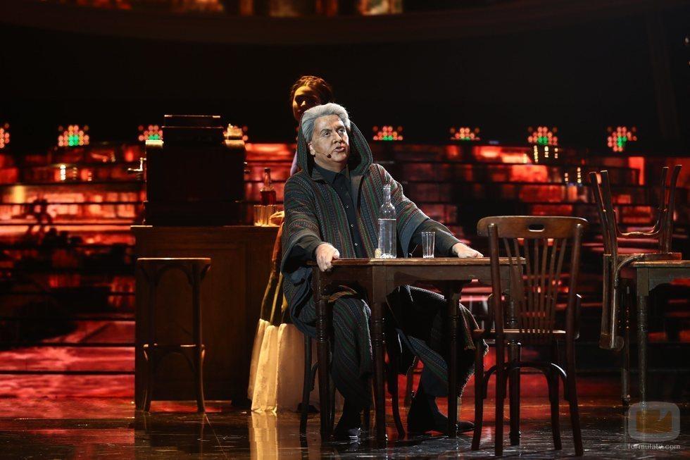 Manu Sánchez como Chavela Vargas en la Gala 14 de 'Tu cara me suena'
