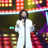 Miquel Fernández interpreta a Bee Gees como artista invitado en la Gala 14 de 'Tu cara me suena'