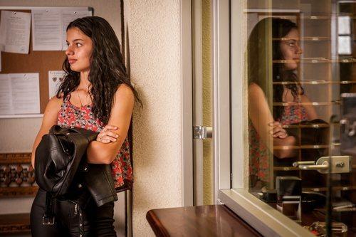 Sofía Oria en el rodaje de la segunda temporada de 'Gigantes'