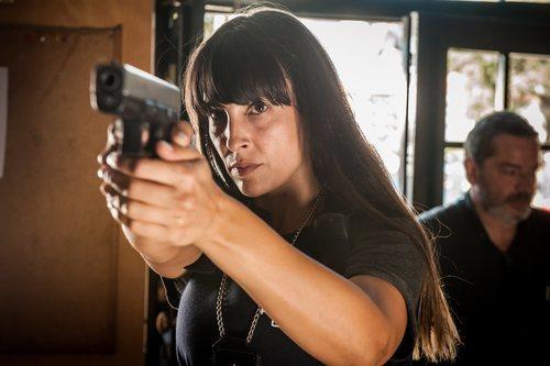 Xenia Tostado en el rodaje de la segunda temporada de 'Gigantes'