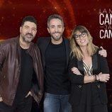 Tony Aguilar, Roberto Leal y Noemí Galera en 'La mejor canción jamás cantada'