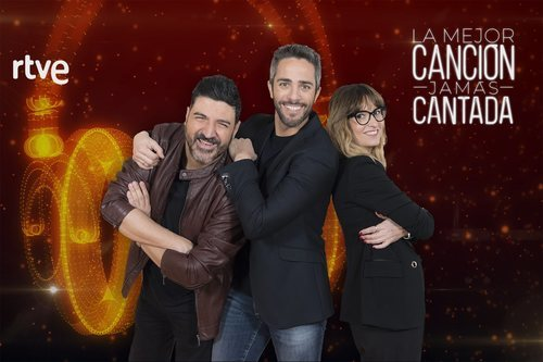 Roberto Leal junto a Tony Aguilar y Noemí Galera en 'La mejor canción jamás cantada'