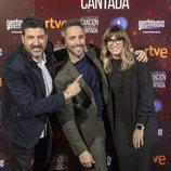 Roberto Leal, Noemí Galera y Tony Aguilar en la presentación de 'La mejor canción jamás cantada'