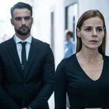 Jesús Castro y Miryam Gallego en una imagen de la serie 'Secretos de Estado'
