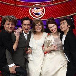 Los cinco finalistas en la gala final de 'Tu cara me suena 7'