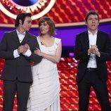 Carlos Baute y María Villalón a punto de saber el ganador en la gala final de 'Tu cara me suena 7'