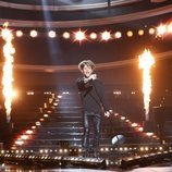 Jordi Coll como Bon Jovi en la gala final de 'Tu cara me suena 7'
