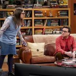 Leonard y Amy dialogan en la temporada 12 de 'The Big Bang Theory'