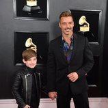 Ricky Martin, en la alfombra roja de los Premios Grammy 2019