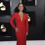 Alicia Keys, en la alfombra roja de los Premios Grammy 2019