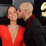 Alicia Keys y Swizz Beatz, en la alfombra roja de los Premios Grammy 2019