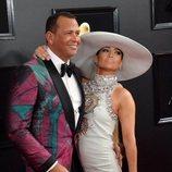 Jennifer Lopez y Alex Rodríguez, en la alfombra roja de los Premios Grammy 2019