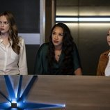 Danielle Panabaker, Candice Patton y Jessica Parker Kennedy en la quinta temporada de 'The Flash'