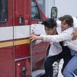 Alex Landi y Jake Borelli en la temporada 15 de 'Anatomía de Grey'