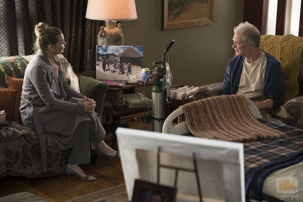 Ellen Pompeo y Jeff Perry en la temporada 15 de 'Anatomía de Grey'
