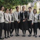 Melina Matthews y las alumnas de 'La otra mirada', en su segunda temporada