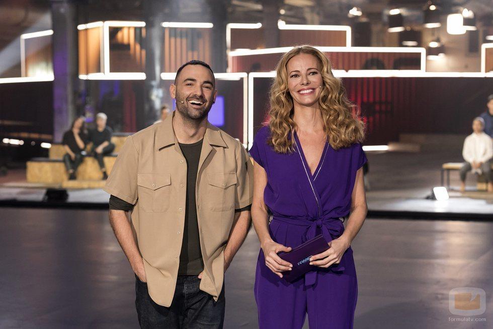 Paula Vázquez e Iker Karrera en el plató 'Fama a bailar'