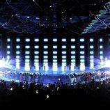 El escenario de Eurovisión 2019, totalmente transformado sin sus elementos principales