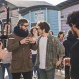 """Miki Núñez, dirigido por Adrià Pujol, en la grabación del videoclip de """"La venda"""""""