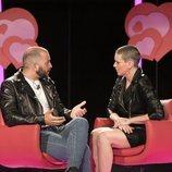 Antonio Tejado y María Jesús Ruiz conversan durante la Gala 7 de 'GH Dúo'