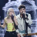 María Villar y Roi Méndez en la Gala 1 de 'La mejor canción jamás cantada'