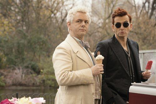 Michael Sheen y David Tennant interpretan a un ángel y un demonio en 'Good Omens'