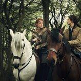 Jamie Fraser y Claire Fraser en la cuarta temporada de 'Outlander'