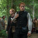 Sam Heughan y John Bell en la cuarta temporada de 'Outlander'