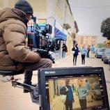 Carmen Climent y Aina Quiñones graban una secuencia de la temporada 20 de 'Cuéntame cómo pasó'