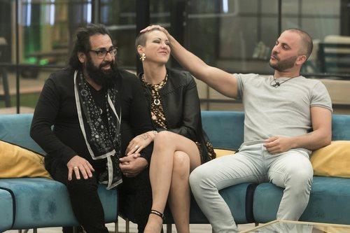 Juan Miguel, María Jesús y Antonio en la Gala 8 de 'GH Dúo'