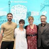 María León, Jon Plazaola, Sonia Martínez y César Benítez en la presentación de la quinta temporada de 'Allí abajo'