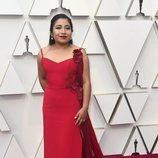 Nancy García en la alfombra roja de los Oscar 2019