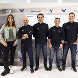 El equipo de Fórmula 1 en la presentación de la temporada 2019 en Movistar+