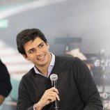 El piloto Carlos Sainz en la presentación de la temporada 2019 de Fórmula 1 en Movistar F1