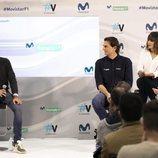 El equipo de Movistar F1 durante la rueda de prensa de la temporada 2019 de la Fórmula 1