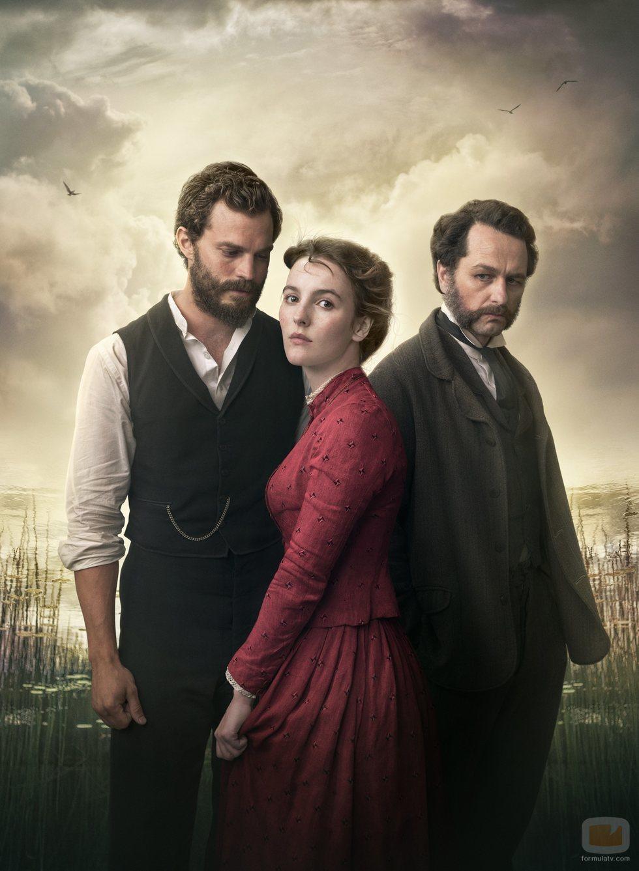 Jamie Dornan, Matthew Rhys y Ann Skelly en 'Death and Nightingales'