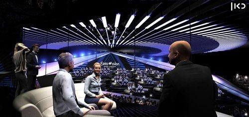 La Green Room de Eurovisión 2019 en Israel se ubica en un pabellón separado del principal