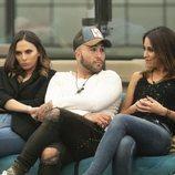 Irene Rosales, Kiko Rivera y Raquel Martín durante la Gala 9 de 'GH Dúo'