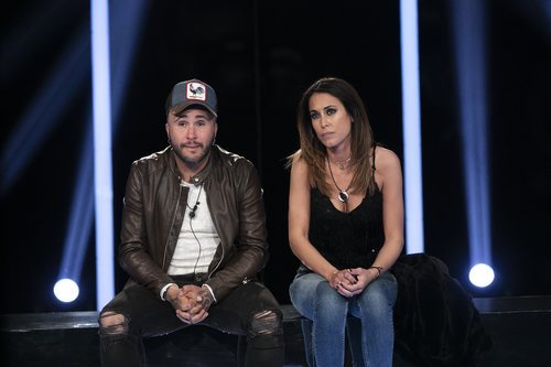 Kiko Rivera y Raquel Martín en la sala de expulsión durante la Gala 9 de 'GH Dúo'