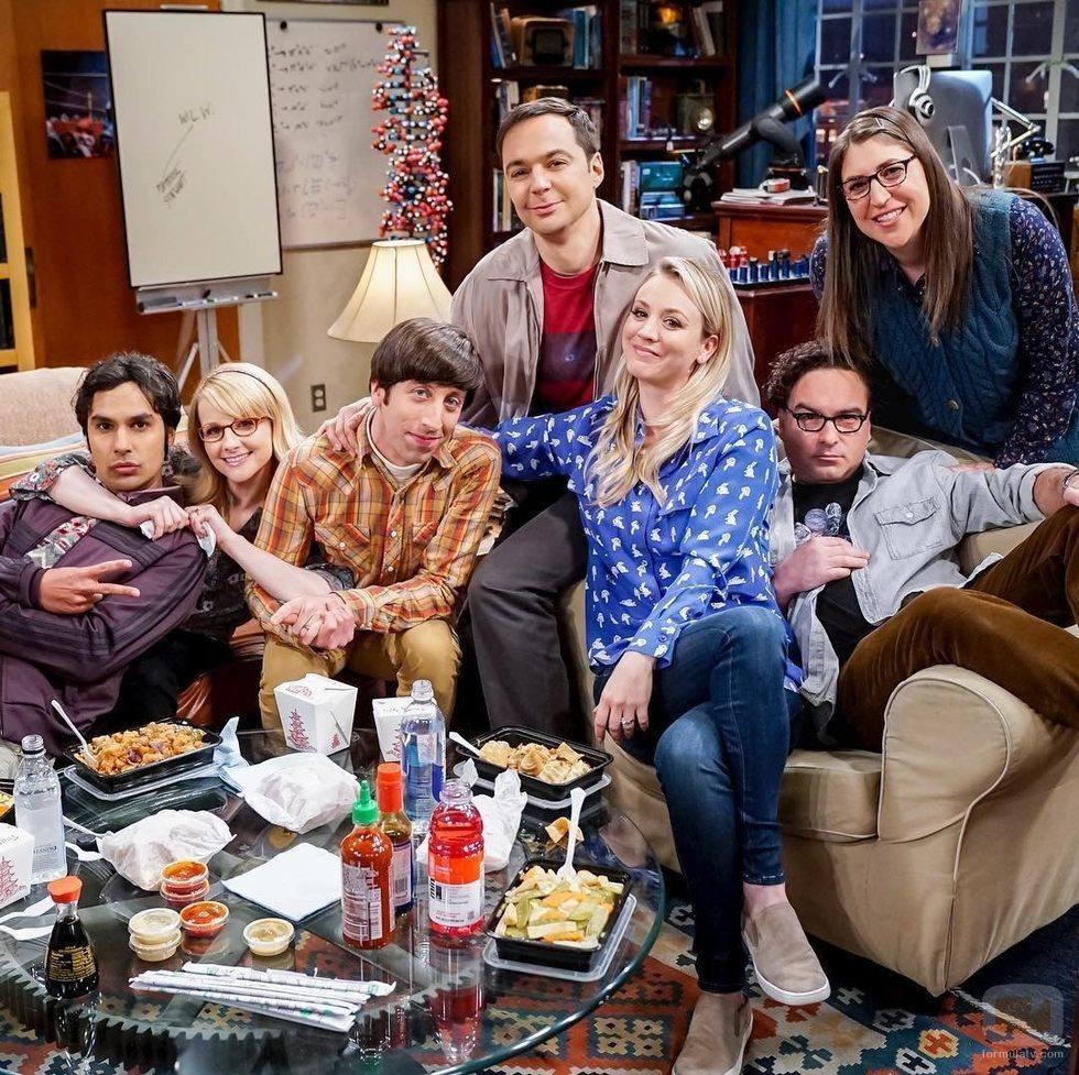 Los protagonistas de 'The Big Bang Theory' durante el rodaje de la última temporada