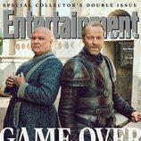 Conleth Hill e Iain Glen como Varys y Jorah Mormont de 'Juego de Tronos' para la revista EW