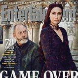 Liam Cunningham y Carice van Houten como Davos Seaworth y Melisandre de 'Juego de Tronos' para EW