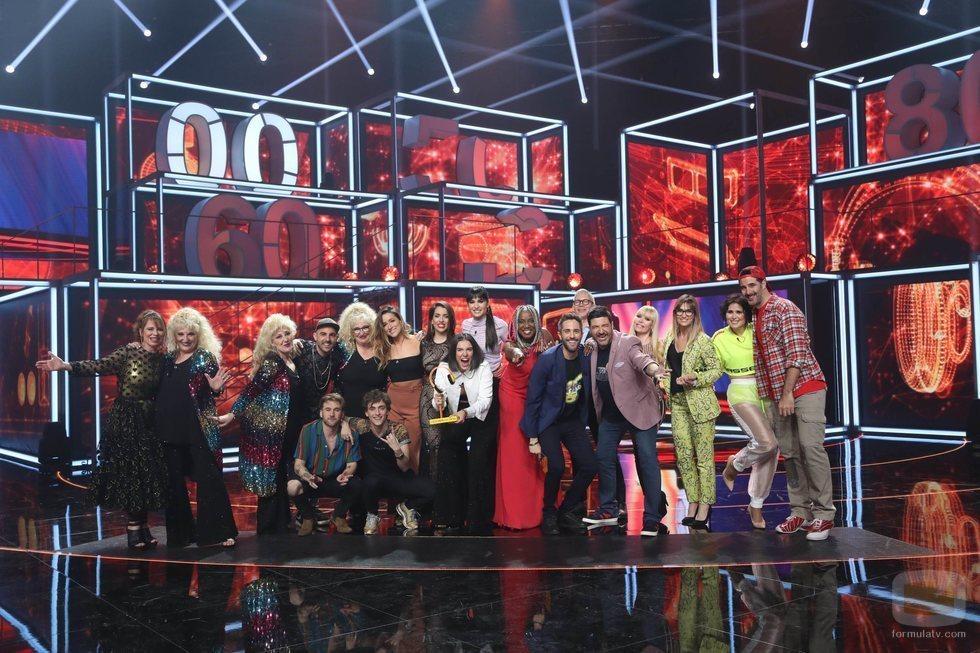 Foto familiar en la Gala 3 de 'La mejor canción jamás cantada'