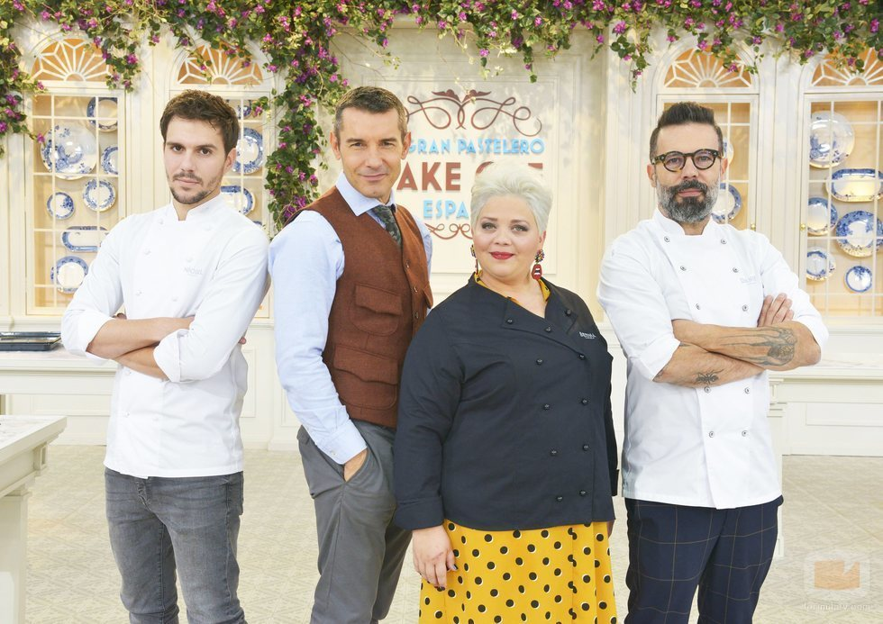 El jurado de 'Bake Off España' junto a Jesús Vázquez